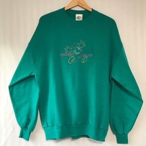 Vintage Embroidered Mickey Mouse Sweatshirt XL